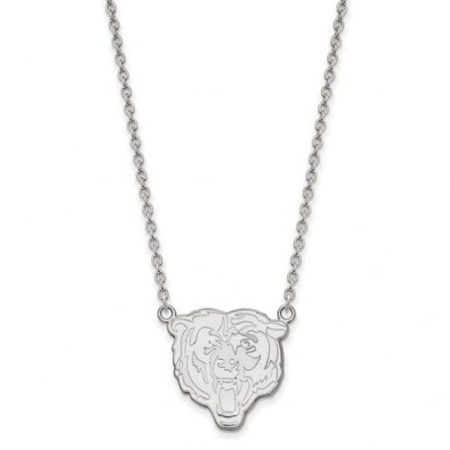 Chicago Bears Sterling Silver Large Pendant with Necklace