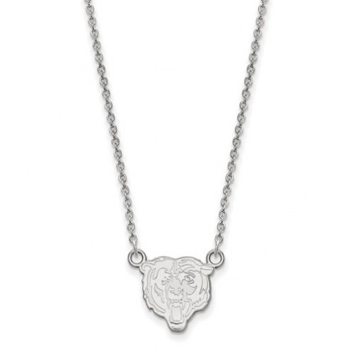 Chicago Bears Sterling Silver Small Pendant with Necklace