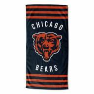 Chicago Bears Stripes Beach Towel