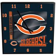 Chicago Bears Team Black Square Clock