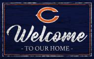 Chicago Bears Team Color Welcome Sign