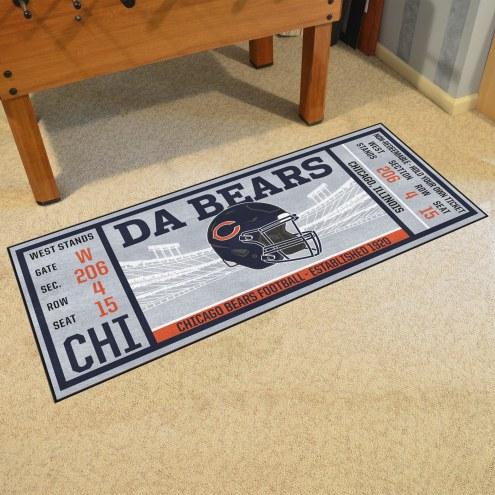 Chicago Bears Ticket Runner Rug