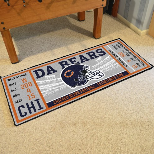 Chicago Bears Ticket Runner Rug