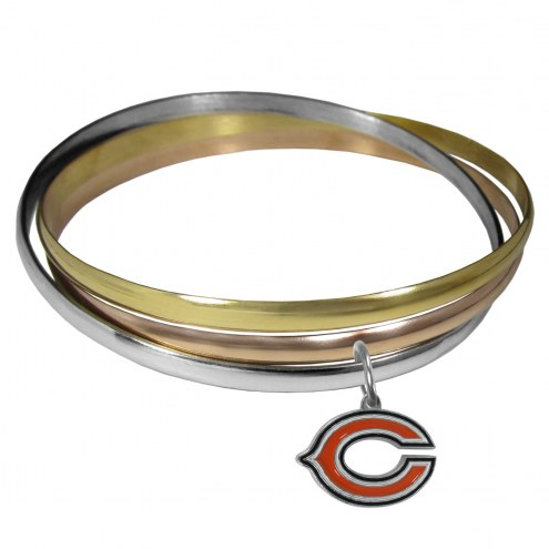Chicago Bears Tri-color Bangle Bracelet