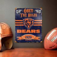 Chicago Bears Vintage Metal Sign