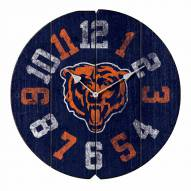 Chicago Bears Vintage Round Clock