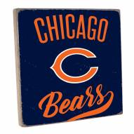 Chicago Bears Vintage Square Wall Sign