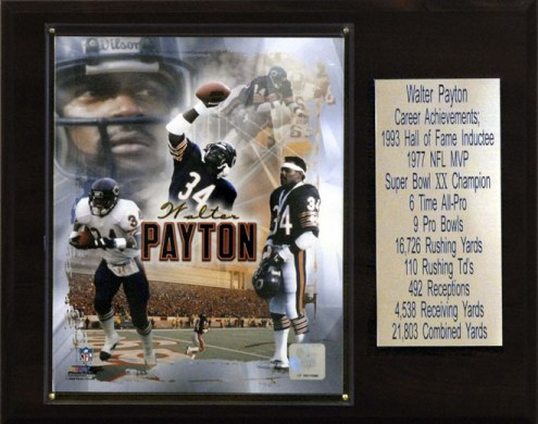 "Chicago Bears Walter Payton 12"" x 15"" Career Stat Plaque"