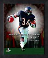 Chicago Bears Walter Payton Framed Pro Quote