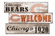 Chicago Bears Welcome 3 Plank Sign