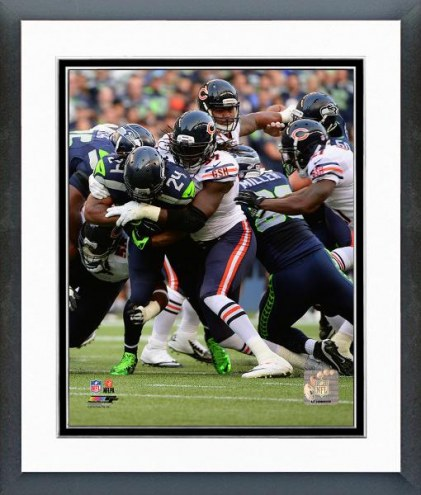 Chicago Bears Willie Young 2014 Action Framed Photo
