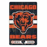 Chicago Bears Slogan Wood Sign