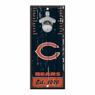 Chicago Bears Wood Bottle Opener