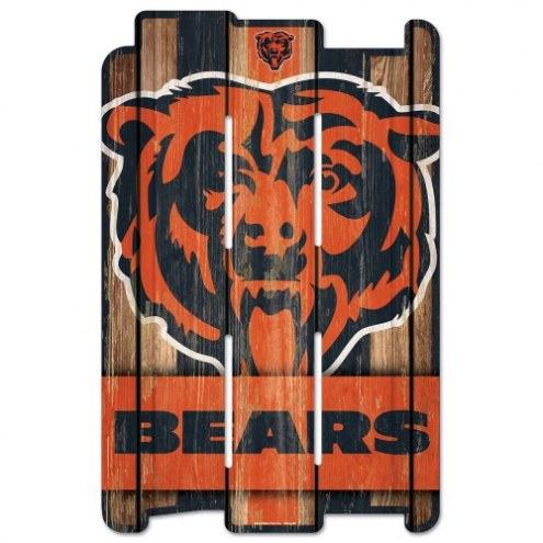 Chicago Bears Wood Fence Sign