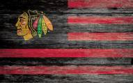 "Chicago Blackhawks 11"" x 19"" Distressed Flag Sign"