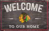 """Chicago Blackhawks 11"""" x 19"""" Welcome to Our Home Sign"""