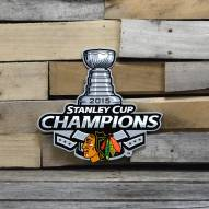 "Chicago Blackhawks 12"" 2015 Champs Steel Logo Sign"