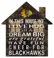 "Chicago Blackhawks 12"" House Sign"