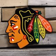 """Chicago Blackhawks 12"""" Steel Logo Sign"""