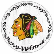 """Chicago Blackhawks 12"""" Welcome Circle Sign"""