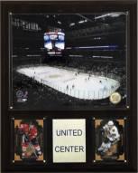 """Chicago Blackhawks 12"""" x 15"""" United Center Arena Plaque"""