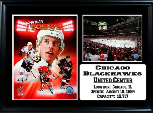"Chicago Blackhawks 12"" x 18"" Jonathan Toews Photo Stat Frame"