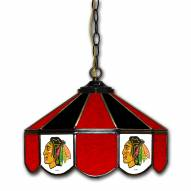 "Chicago Blackhawks 14"" Glass Pub Lamp"