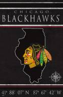 "Chicago Blackhawks 17"" x 26"" Coordinates Sign"