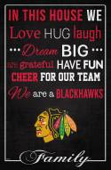"""Chicago Blackhawks 17"""" x 26"""" In This House Sign"""