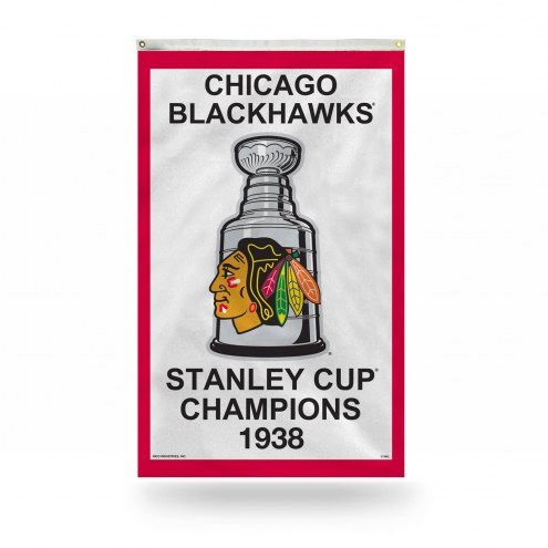 Chicago Blackhawks 3' x 5' Banner Flag