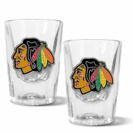 Chicago Blackhawks 2 oz. Prism Shot Glass Set