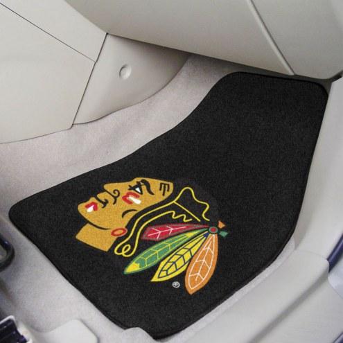 Chicago Blackhawks 2-Piece Carpet Car Mats