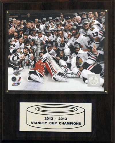 "Chicago Blackhawks 12"" x 15"" 2012-2013 Stanley Cup Celebration Plaque"