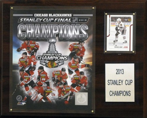 "Chicago Blackhawks 12"" x 15"" 2012-2013 Stanley Cup Champions Plaque"
