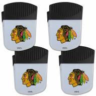 Chicago Blackhawks 4 Pack Chip Clip Magnet with Bottle Opener