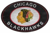"Chicago Blackhawks 46"" Heritage Logo Oval Sign"