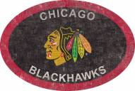 "Chicago Blackhawks 46"" Team Color Oval Sign"