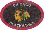 "Chicago Blackhawks 46"" Team Color Oval Sign"