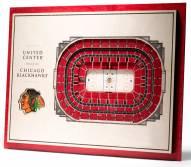 Chicago Blackhawks 5-Layer StadiumViews 3D Wall Art