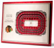 Chicago Blackhawks 5-Layer StadiumViews 3D Wall Art