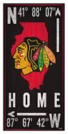 "Chicago Blackhawks 6"" x 12"" Coordinates Sign"