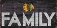"""Chicago Blackhawks 6"""" x 12"""" Family Sign"""