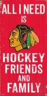"Chicago Blackhawks 6"" x 12"" Friends & Family Sign"