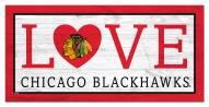 "Chicago Blackhawks 6"" x 12"" Love Sign"