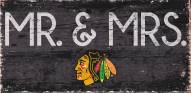"""Chicago Blackhawks 6"""" x 12"""" Mr. & Mrs. Sign"""