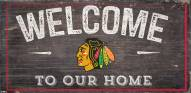 """Chicago Blackhawks 6"""" x 12"""" Welcome Sign"""