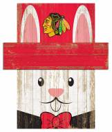 "Chicago Blackhawks 6"" x 5"" Easter Bunny Head"