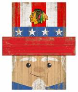 "Chicago Blackhawks 6"" x 5"" Patriotic Head"