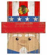 "Chicago Blackhawks 6"" x 5"" Patriotic Head"