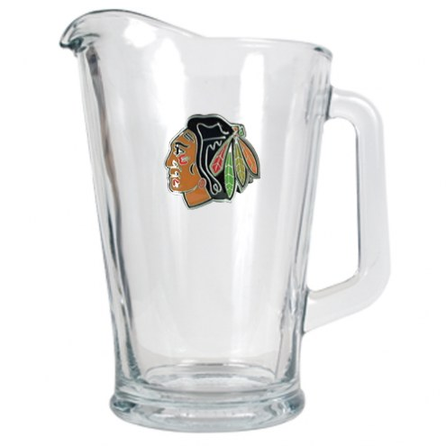 Chicago Blackhawks 60 Oz. Glass Pitcher - Primary Logo